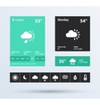 Weather Widget UI set of the flat design trend vector image