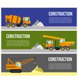 construction machine web banner concept vector image