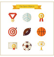 Flat Sport and Competition Winning Objects Set vector image