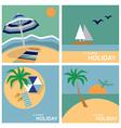 summer holiday vector image