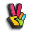 hand and peace symbols vector image