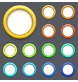 modern colorful circle button set vector image