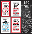 Barbecue party invitation BBQ template menu design
