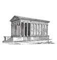 a roman temple located at nimes in southern vector image vector image