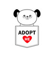adopt me dog sitting in the pocket red heart vector image vector image