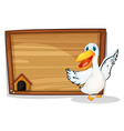 An empty wooden board with an aquatic animal vector image vector image
