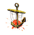 Anchor and splatter vector image