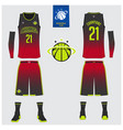 basketball uniform mockup template design vector image