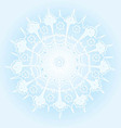 Beautiful winter background with a snowflake vector image vector image