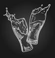 beer splashb vector image vector image