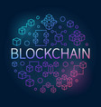 blockchain round colorful concept outline vector image