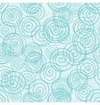 Blue seamless pattern from hand drawn circles vector image vector image