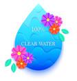 blue water drop vector image vector image