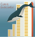 blue whale swimming through big apartment vector image vector image