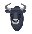 bull head realistic icon muscular and aggressive vector image