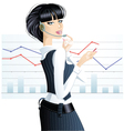 business girl vector image vector image