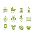 child and baby online shop icons vector image vector image