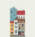 city street horizontal vector image vector image