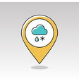 Cloud Snow Rain pin map icon Meteorology Weather vector image vector image