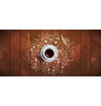 coffee concept on wooden background - white coffee vector image vector image