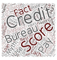 Common Credit Score Myths text background vector image vector image
