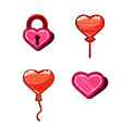concept heart game design - lock vector image vector image