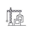 construction crane line icon concept construction vector image vector image