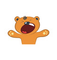 cute bear yelling vector image vector image
