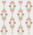 diamond geo modern damask pattern colors on white vector image