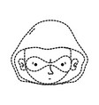 dotted shape thief crimical head with mask design vector image