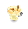 eggnog on a white background vector image vector image