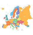 europe map infographic slide presentation global vector image