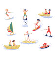 extreme water sports set waterski flyboarding vector image