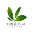 four leaf logo concept design symbol graphic vector image vector image