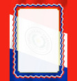 frame and border of ribbon with paraguay flag vector image vector image