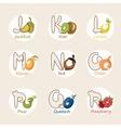 fruit alphabet vector image vector image