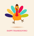 Funny turkey bird for Happy Thanksgivin vector image vector image