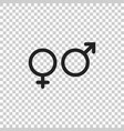 gender sign icon men and women concept icon vector image vector image
