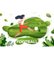 girl football player vector image vector image
