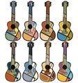 Guitar mosaics vector image vector image
