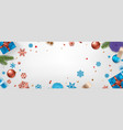 happy new year banner christmas background xmas vector image vector image