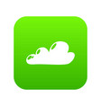 internet cloud icon green vector image