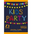 Kids party invitation poster vector image vector image