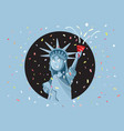 liberty statue celebrating independence day vector image