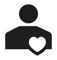 like friend icon simple style vector image
