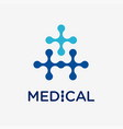 medical and health conceptual logo vector image