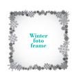 monochrome isolated foto frame decorative vector image