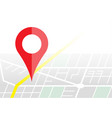navigater pin checking on map gps concept vector image vector image