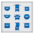 new labels blue vector image