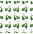 Oak leaf watercolor seamless pattern vector image